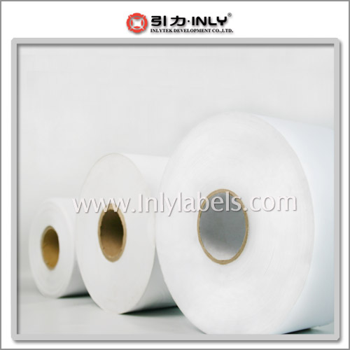 Self-adhesive label materals in jumbo rolls