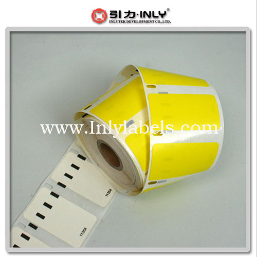 Dymo yellow 11354 compatible label
