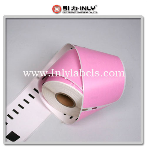 Dymo pink  99014 compatible label