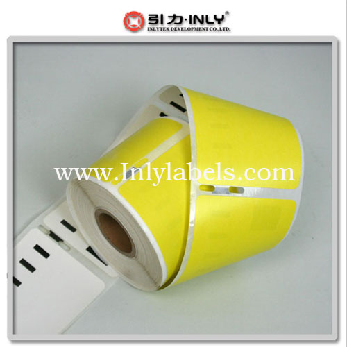 Dymo yellow  99014 compatible label